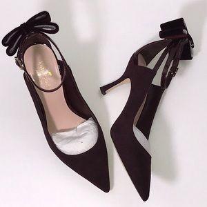 Kate Spade Sheena Deep Russet Suede heels
